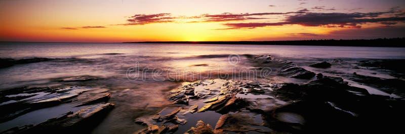 Wschód słońca przy Jeżatki Górą obrazy royalty free