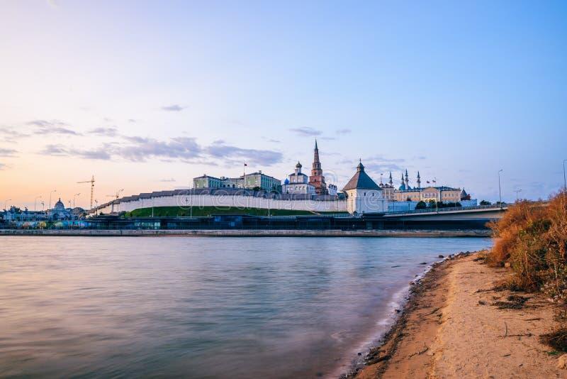 Wschód słońca przy Kazan Kremlin fotografia stock