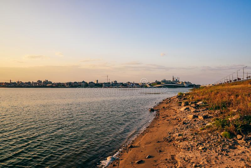 Wschód słońca przy Kazan Kremlin zdjęcia stock