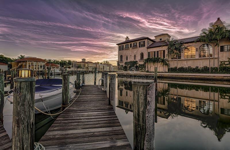 Wschód słońca przy Naples, Floryda obraz royalty free