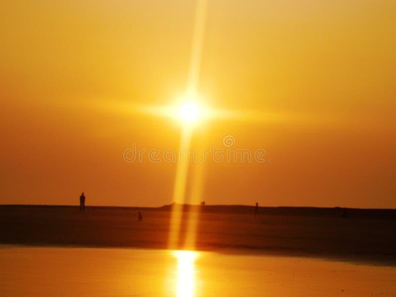 Wschód słońca przy SaintMartins wyspą fotografia royalty free