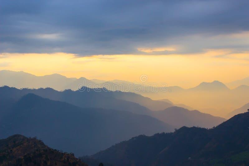 Wschód słońca przy Uttarakhand fotografia royalty free