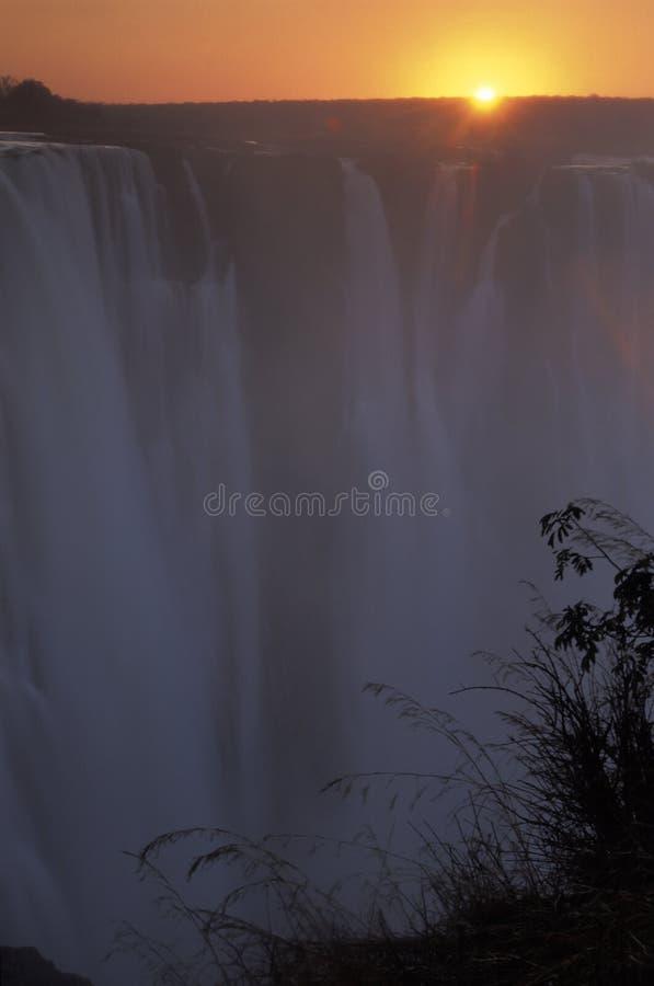 Wschód słońca przy Wiktoria spadkami obrazy royalty free