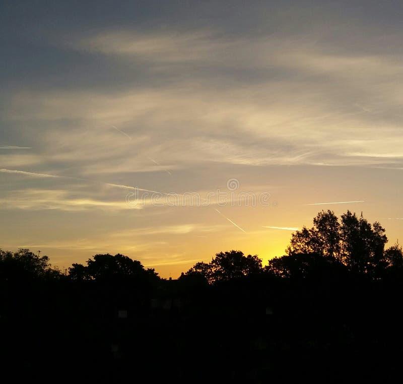 Wschód słońca rano obrazy stock