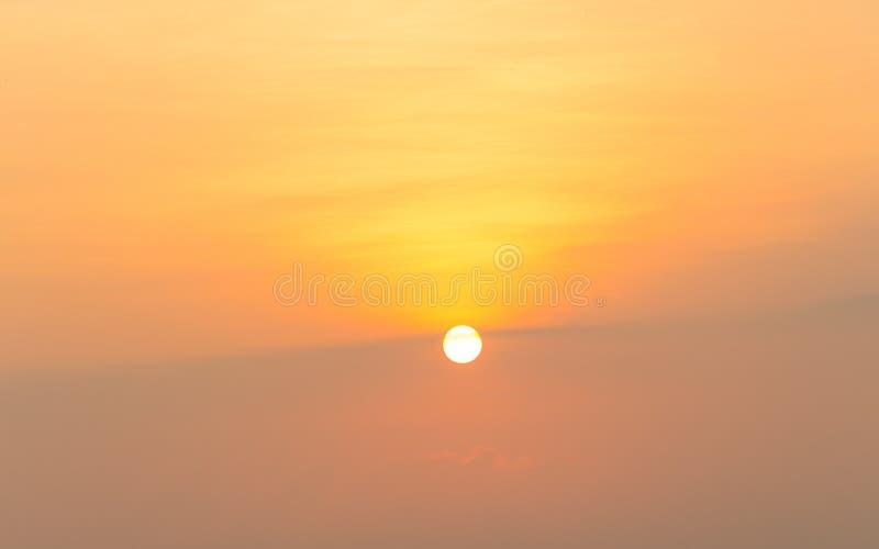 Wschód słońca rozmaitość kolory i odcienie obraz stock