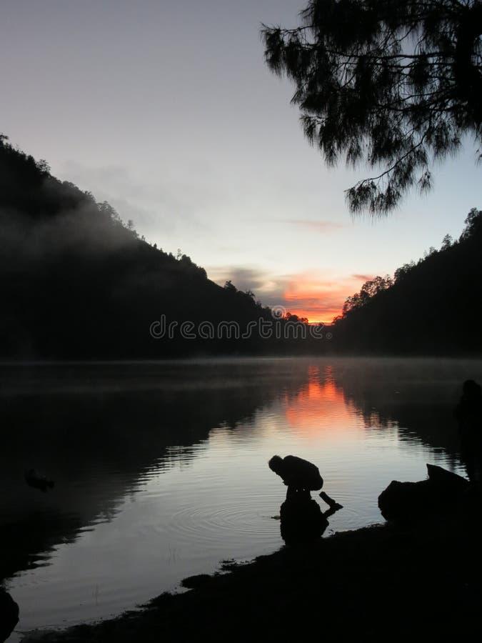 Wschód słońca Semeru zdjęcie royalty free