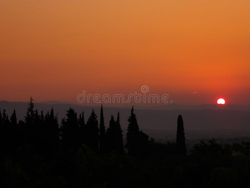 Wschód słońca synklina góry zdjęcie royalty free