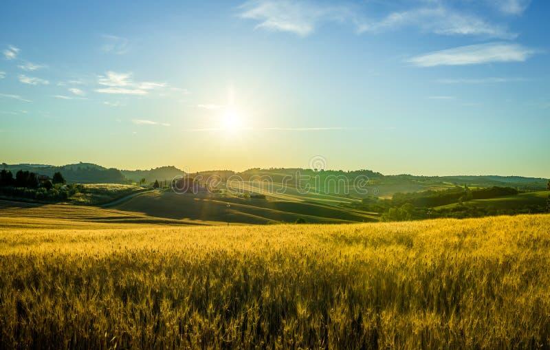 wschód słońca Toskanii zdjęcia stock