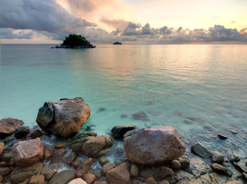 wschód słońca tropikalny zdjęcia royalty free