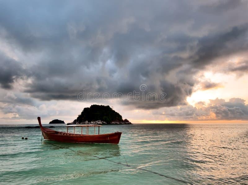 wschód słońca tropikalny fotografia stock