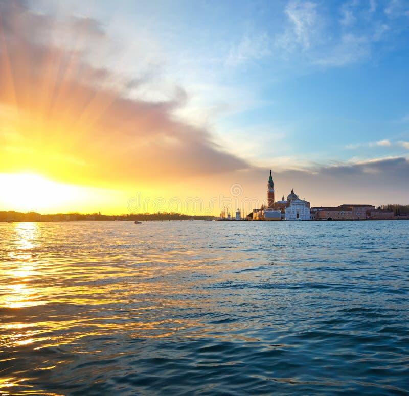 wschód słońca Venice fotografia royalty free