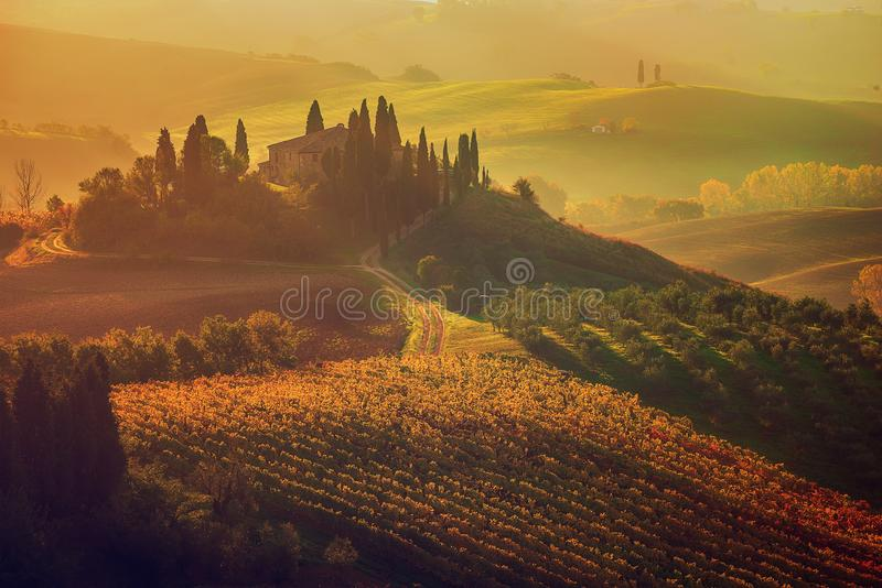 Wschód słońca we Włoszech fotografia royalty free