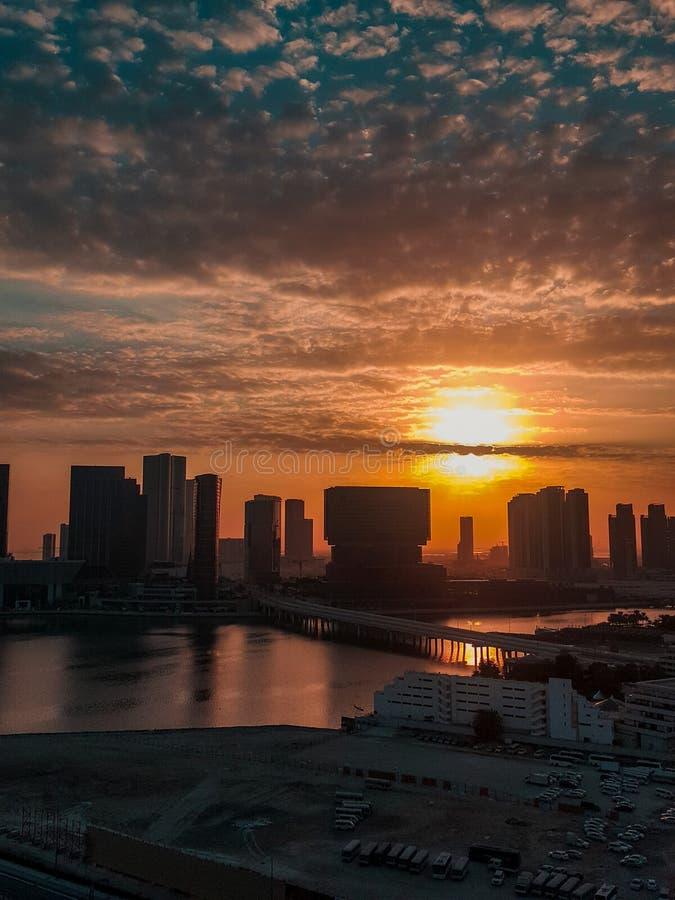 Wschód słońca w Abu Dhabi fotografia royalty free