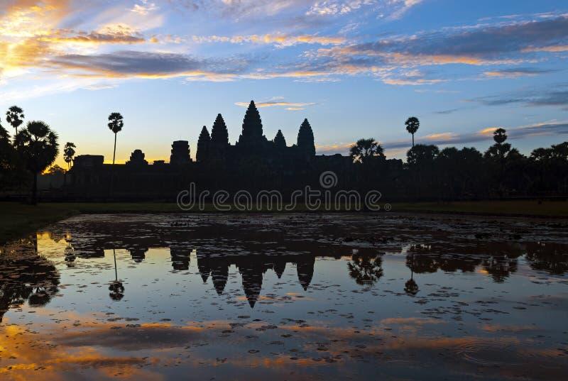 Wschód słońca w Angkor Wat, Kambodża zdjęcia royalty free