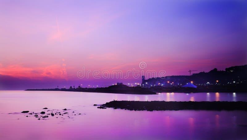 Wschód słońca w Atakum Samsun Turcja zdjęcie royalty free