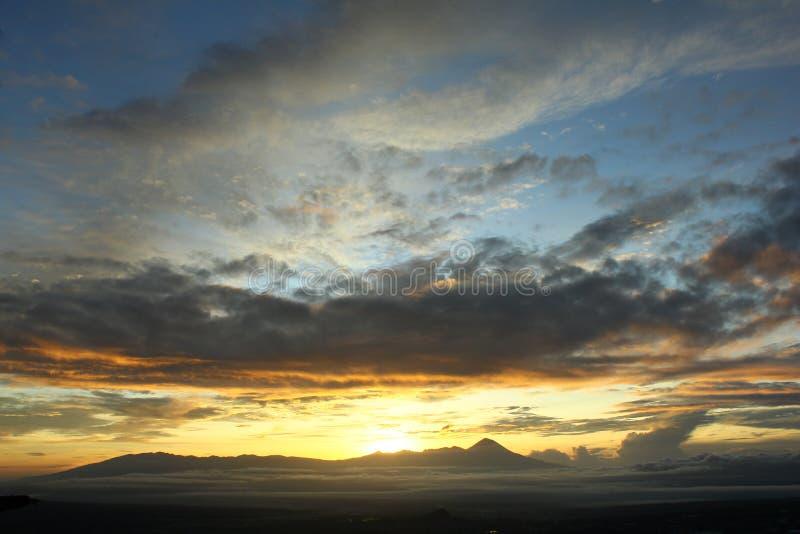 Wschód słońca w batu fotografia royalty free