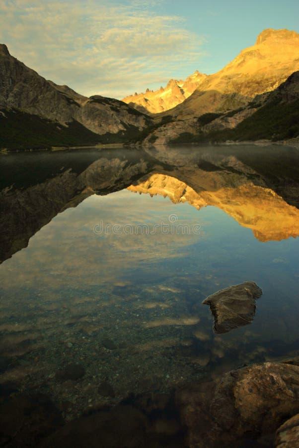 Wschód słońca w Jeziornym Jakob obrazy stock