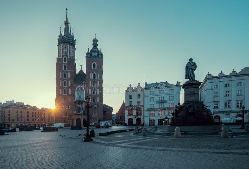 Wschód słońca w Krakow Polska zdjęcie stock