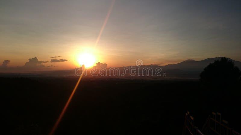 Wschód słońca w mahadewa wzgórzu fotografia royalty free