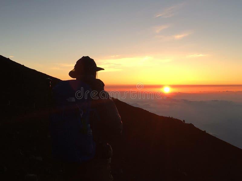 Wschód słońca w Mt fuji zdjęcie stock