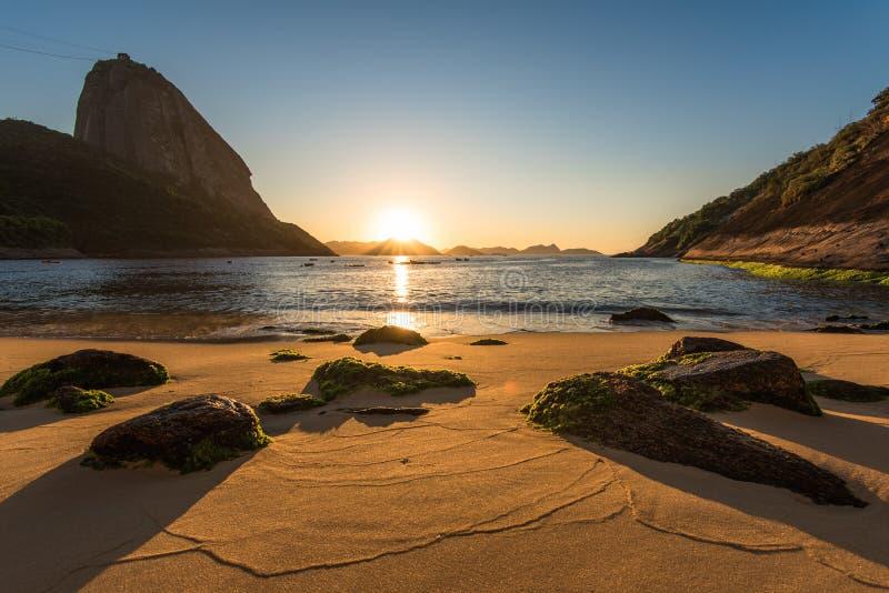 Wschód słońca w plaży fotografia stock
