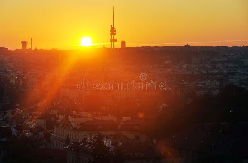 Wschód słońca w Praga fotografia stock