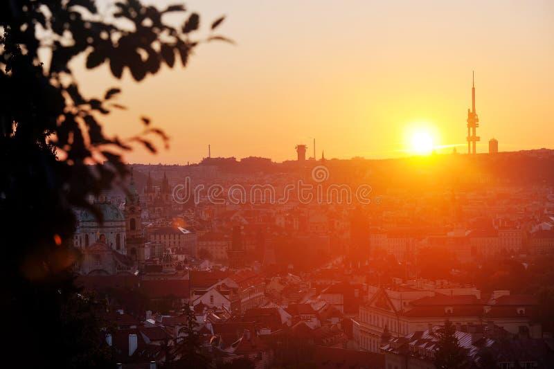 Wschód słońca w Praga zdjęcia stock