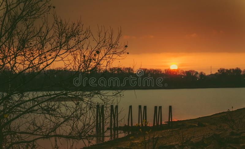 Wschód słońca w ranek obraz stock