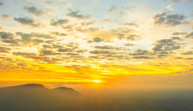 Wschód słońca w ranek zdjęcia stock