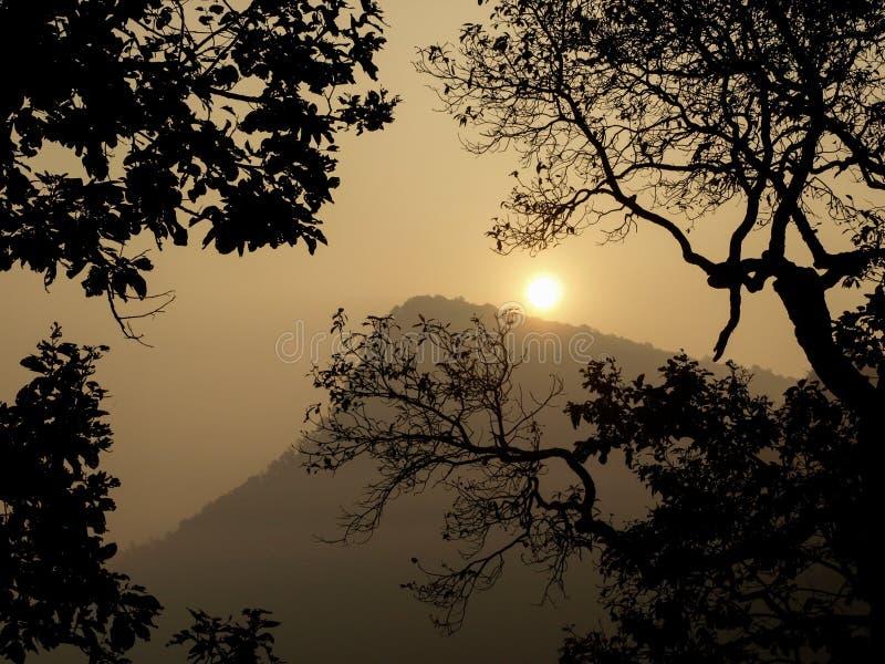 Wschód słońca w ranek obraz royalty free