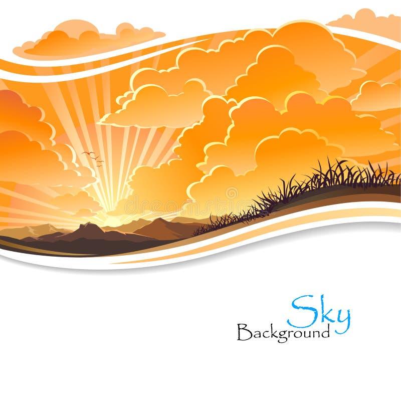 Wschód słońca w Skalistych wzgórzach royalty ilustracja