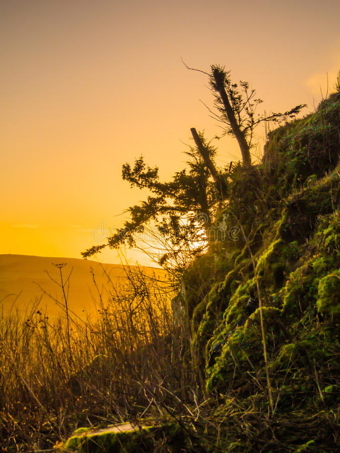 Wschód słońca w szkockich granicach obrazy stock
