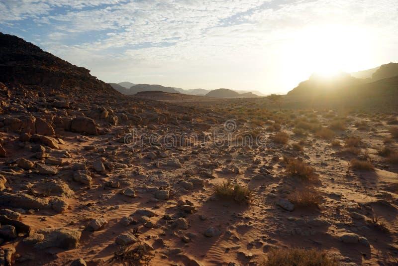 Wschód słońca w wadiego rumu obrazy stock