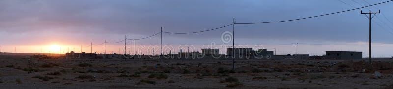 Wschód słońca w wiosce zdjęcia royalty free