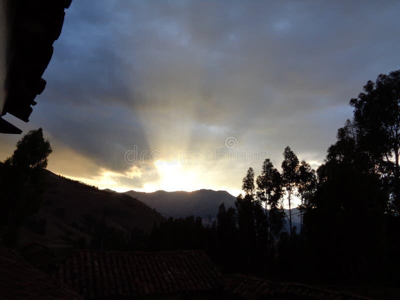 Wschód słońca w wysokich Andes fotografia royalty free