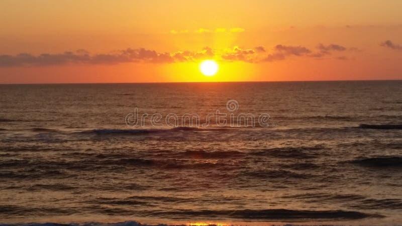 Wschód słońca w zewnętrznych bankach obrazy royalty free