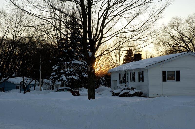 wschód słońca zimy zimna fotografia royalty free