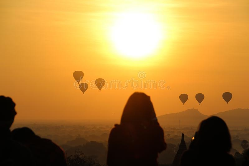 Wsch?d s?o?ca w Myanmar fotografia royalty free