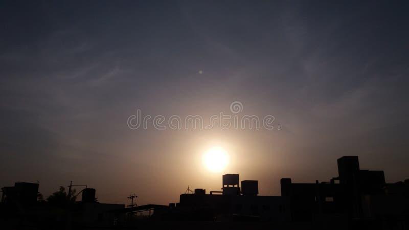 Wschodów słońca clauds zdjęcie royalty free
