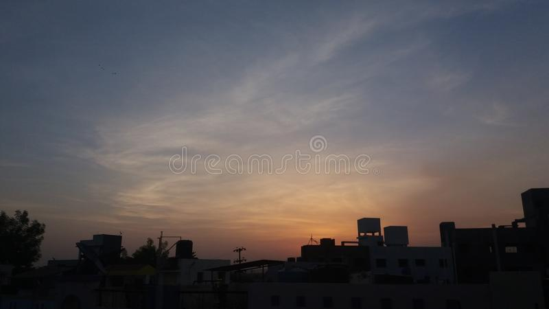 Wschodów słońca clauds obraz royalty free