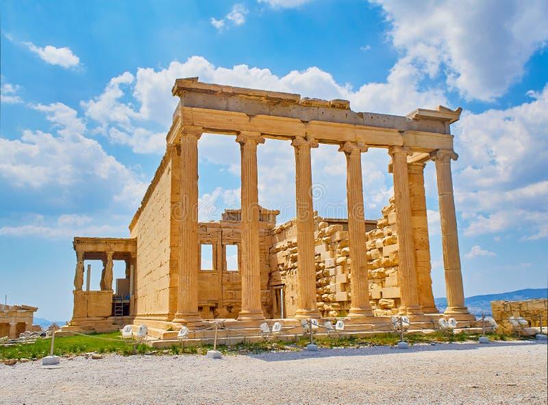 Wschodni ganeczek Erechtheion przy Ateńskim akropolem Ateny, Grecja fotografia stock