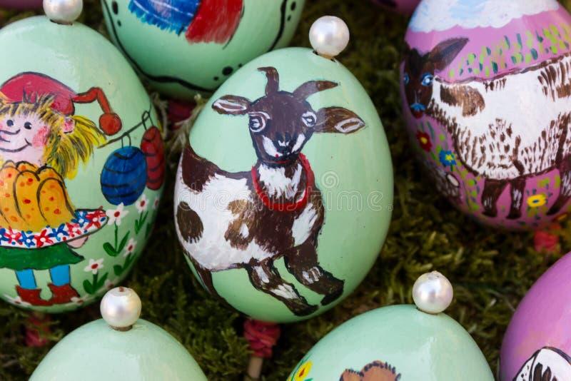 wschodni jajka handpainted 2 obrazy royalty free