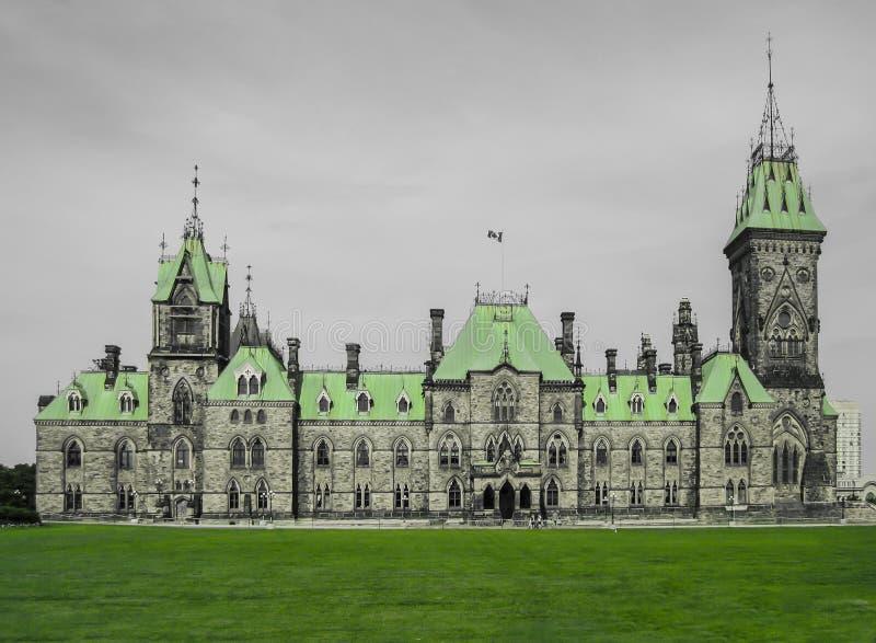 Wschodni Oddziałowy budynek parlamentu wzgórze, Ottawa, Ontario, Kanada fotografia royalty free