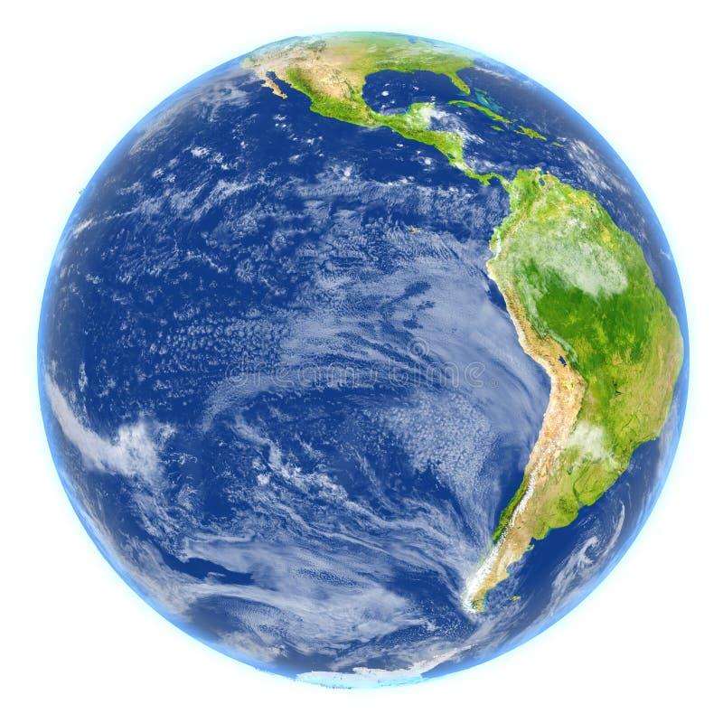 Wschodni Pacyfik na planety ziemi ilustracja wektor