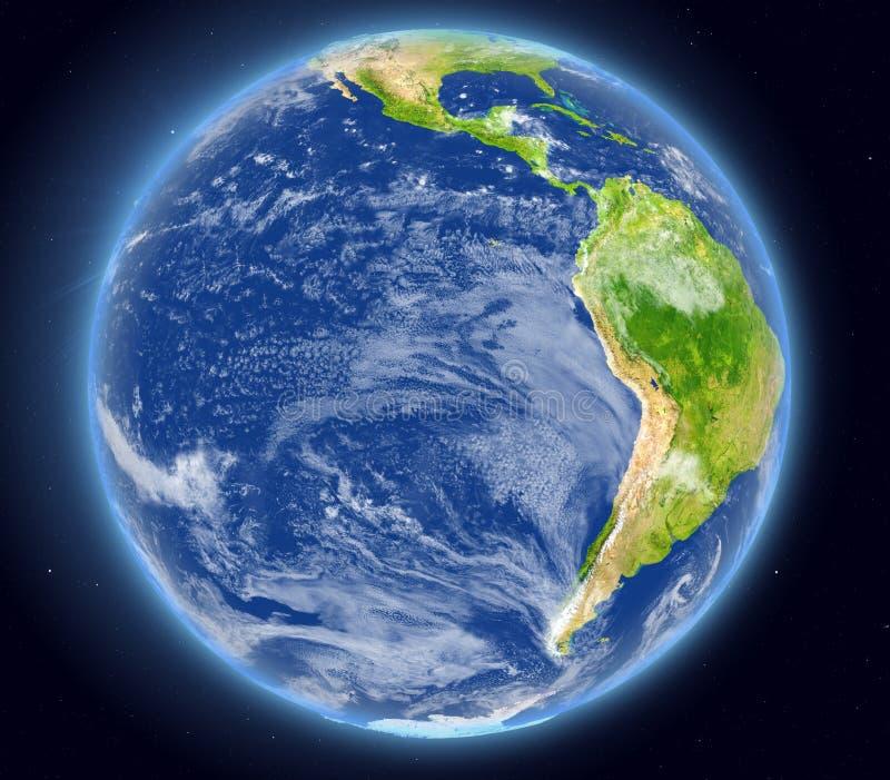 Wschodni Pacyfik od przestrzeni royalty ilustracja