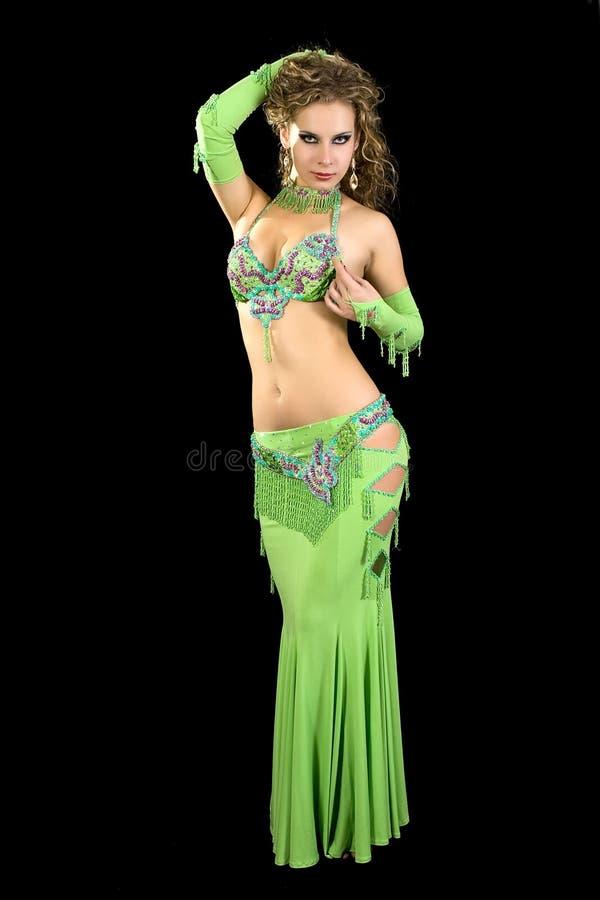 wschodni piękny kostiumowy tancerz obraz stock