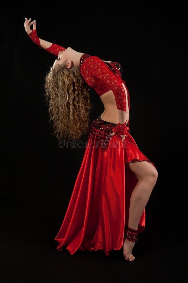 wschodni piękny kostiumowy tancerz fotografia stock