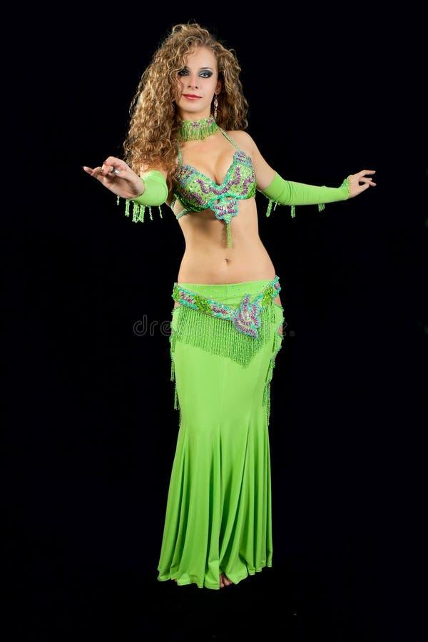 wschodni piękny kostiumowy tancerz obrazy royalty free