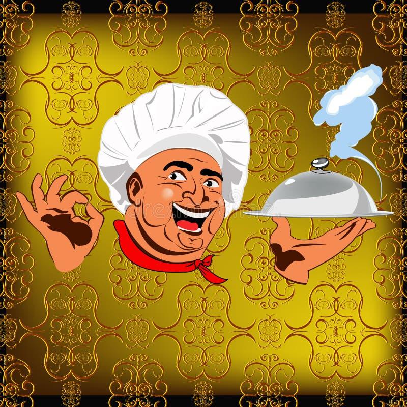 Wschodni szef kuchni royalty ilustracja