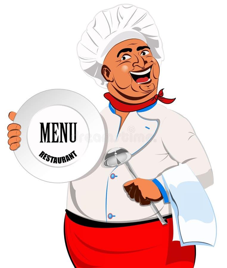Wschodni szef kuchni ilustracji